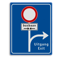 Informatiebord RVV L10-C01 Routebord busbaan, uitgang