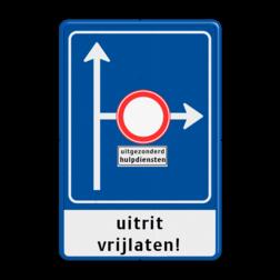 Verkeersbord RVV L10-02r + onderbord + ondertekst Vooraanduiding, voorwaarschuwing, verkeersmaatregel, L10