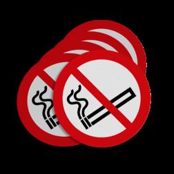 Product Verboden te roken Stickerset C01_roken verboden | set van 5 stickers soepbord, roken verboden, niet roken, sigaret, sigaar, C1