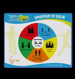 Schoolpleinbord rechthoek 4:3 reflecterend + full-colour opdruk logobord, eigen ontwerp, schoolplein, speciale borden