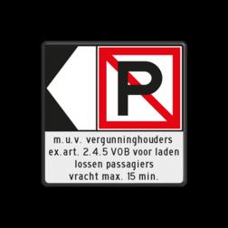 Scheepvaartbord Verboden ligplaats te nemen. Toepassing van dit teken is bestemd voor gevallen, waarin zowel ankeren als afmeren is verboden. Spudpalen zijn gelijk gesteld met ankeren. + Richtingaanduiding. Zijborden of puntboorden worden links of rechts aan een hoogsteken toegevoegd. + Aanvullende aanduiding. Aanvullende aanduidingen zijn altijd onder het hoofdteken geplaatst. Scheepvaartbord BPR A. 5 + F.2a + F.3 - Verboden ligplaats te nemen + richtingaanduiding + aanvullende aanduiding 1:1 tekstbord scheepvaart. A5, F3, F2a, waterweg, waterwegen, scheepvaarttekens, verkeerstekens, richting, aanleggen, aanmeren