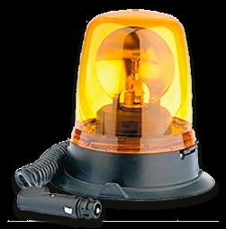 Zwaailamp 12V halogeen met krulsnoer en magneetvoet lamp, alarmlicht, zwaailicht, obstakelverlichting, zwaailamp, halogeen