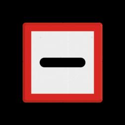 Scheepvaartbord Verplichting voor het bord stil te houden. Het teken geeft naast de verplichting stil te houden, tevens de plaats aan tot waar schepen mogen varen, indien het door of invaren van bruggen of sluizen is verboden of nog niet mogelijk is. Scheepvaartbord BPR B. 5 - Verplicht voor het bord stil te houden B. 5 water, B5, stoppen, gebodstekens, gebodsborden, waterweg, waterwegen, scheepvaarttekens, verkeerstekens,