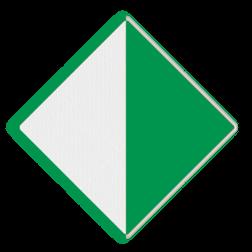 Scheepvaartbord Aanbeveling binnen de aangegeven begrenzing te varen. Het teken bestaat altijd uit twee borden en wordt meestal toegepast aan vaste bruggen om de breedte van het vaarwater te markeren. Als de doorvaarthoogte van een brug doormiddel van hoogteschalen is aangegeven, komt de afgelezen waarde van de schaal overeen met de hoogte onder het punt van de brug waar teken D.2 is aangebracht. Het teken fungeert in dat geval als referentieteken. Scheepvaartbord BPR D. 2a rechts - Aanbeveling binnen de aangegeven begrenzing te varen D. 2a water, D2a, aanbevelingstekens, aanbevelingsborden, waterweg, waterwegen, scheepvaarttekens, verkeerstekens