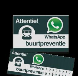 WhatsApp Buurtpreventie Reflecterende stickers (set 10 stuks) - L209wa Whats App, WhatsApp, watsapp, preventie, attentie, buurt, L209, wijkpreventie, straatpreventie, dorpspreventie