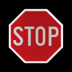 Verkeersbord B5: Stoppen en voorrang verlenen Verkeersbord België B5 - Stoppen en voorrang verlenen B5 Stopbord, nu stoppen, voorrangswegbord, stop, B7