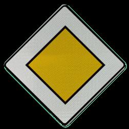 Verkeersbord B09: Voorrangsweg Verkeersbord België B9 - Voorrangsweg B9 voorrangsweg, oranjebord, voorrang, vierkant bord, B1