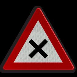 Verkeersbord B17: Kruispunt waar de voorrang van rechts geldt Verkeersbord België B17 - Kruispunt B17 B07, Kruising, B6