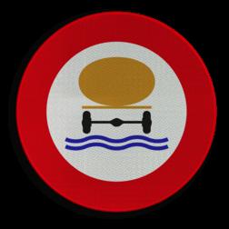 Verkeersbord C24c: Verboden toegang voor bestuurders van voertuigen die gevaarlijke verontreinigende stoffen vervoeren. Verkeersbord België C24c - Verboden toegang voor bestuurders van voertuigen die gevaarlijke verontreinigende stoffen vervoeren C24c verbodsbord, onrein, stoffen, onhygiënisch