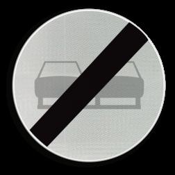 Verkeersbord C37: Einde verbod opgelegd door het verkeersbord C35 Verkeersbord België C37 - Einde verbod opgelegd door het verkeersbord C35 C37 verbodsbord, einde inhaalverbod, inhaalverbod, f02
