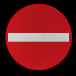 Verkeersbord C1: Verboden richting voor iedere bestuurder Verkeersbord België C1 - Verboden richting voor iedere bestuurder C1 verbodsbord, verboden voor auto's, geen auto's, verboden, C02, eenrichtingsweg,