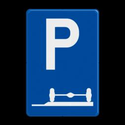 Verkeersbord E9e: Verplicht parkeren op de berm of op het trottoir Verkeersbord België E9e - Verplicht parkeren op de berm of op het trottoir E9e parkeersbord, berm, zijkant, stoep