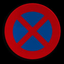 Verkeersbord E3: Stilstaan en parkeren verboden Verkeersbord België E3 - Stilstaan en parkeren verboden E3
