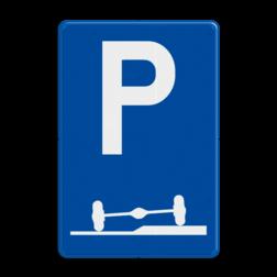 Verkeersbord E09f: Verplicht parkeren deels op de berm of op het trottoir Verkeersbord België E9f - Verplicht parkeren deels op de berm of op het trottoir E9f parkeersbord, stoep, zijkant