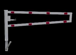 Draaiboom (SH2) hoogte 950mm - Automatisch Vergrendeld - Bodemmontage (verzinkt) hefboom, inrit, uitrit, draaiboom, slagboom, draaipaal, draaipoort, oversteek, klaarover, school, zebrapad