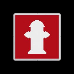 Brand bord Fire Hydrant - international Brand, trap, locatie, vuur, blussen, vluchten, brandkraan, bluswaterput, brandput, Brandbestrijdingsteken, brandbestrijdingspicto