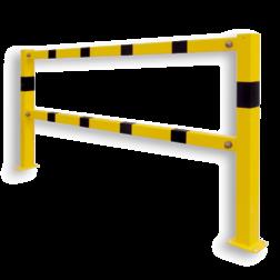 Balustrade Liggerset type BASIC, staal Beugel, Aanrijdbeveiliging, Magazijn, Beveiliging, Wanden, Muren, Trappen, Steun, Steuning, Ondersteuning