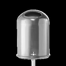 Prullenbak 45L Ovaal (Verzinkt staal) + sleutel Prullenbak, Prullenmand, Straatmeubilair, Park, Afvalbak, Afval,