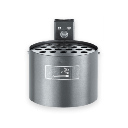 Asbak 4 liter Ø200mm - vlakke wand of paalmontage Asbak, roken, afval, sigaretten, peuken