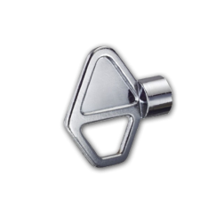 Driekantsleutel (Prullenbak) 8 mm Sleutel, Prullenbak, Afvalbak, Driekant, Slot