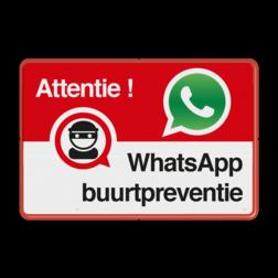 WhatsApp Attentie Buurtpreventie Informatiebord - 002 - L209wa Whats App, WhatsApp, watsapp, preventie, attentie, buurt, L209, wijkpreventie, straatpreventie, dorpspreventie
