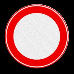 Verkeersbordsticker Gesloten voor - zelf beletteren Verkeersbordsticker RVV C00 - zonder interieur soepbord, geslotenverklaring, verboden in te rijden, geen toegang, verbodsbord, c1