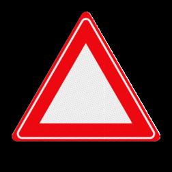 Verkeersbordsticker Waarschuwing voor - zelf beletteren Verkeersbordsticker RVV J00 - zonder interieur let op, pas op,