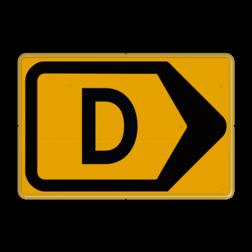 Omleidingsbord - T201r-d - Werk in uitvoering Tekstbord, WIU bord, tijdelijke verkeersmaatregelen, werk langs de weg, omleidingsborden, tijdelijk bord, werk in uitvoering, gevaarlijk terrein, drijf zand