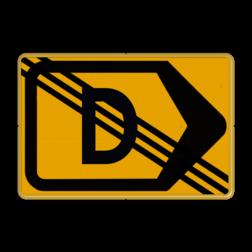 Omleidingsbord - T201r-de - Werk in uitvoering Tekstbord, WIU bord, tijdelijke verkeersmaatregelen, werk langs de weg, omleidingsborden, tijdelijk bord, werk in uitvoering, gevaarlijk terrein, drijf zand