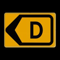 Omleidingsbord - T201l-d - Werk in uitvoering Tekstbord, WIU bord, tijdelijke verkeersmaatregelen, werk langs de weg, omleidingsborden, tijdelijk bord, werk in uitvoering, gevaarlijk terrein, drijf zand