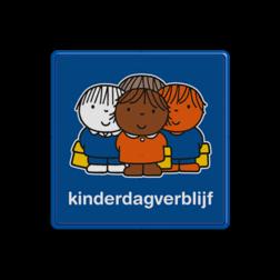 Dick Bruna - Attentiebord  kinderdagverblijf - multicultureel Nijntje, vvn, school, schoolzone, creche, crèche, kinderdagverblijf