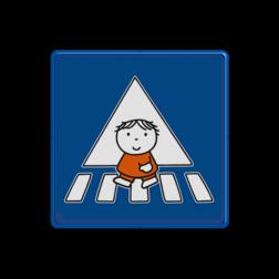 Dick Bruna - Attentiebord  oversteken Nijntje, vvn, school, schoolzone, zebrapad, oversteekplaats, oversteekplek, Miffy