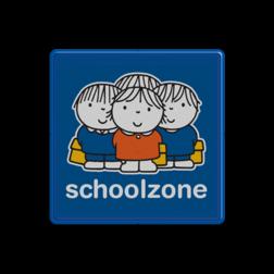 Dick Bruna - Attentiebord  schoolzone Nijntje, vvn, school, schoolzone, Miffy