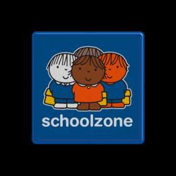 Dick Bruna - Attentiebord  schoolzone - multicultureel Nijntje, vvn, school, schoolzone, Miffy