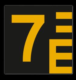 Scheepvaartbord Hoogteaanduiding links van de vaarweg. Een hoogteschaal met onderverdeling wordt toegepast wanneer een zekere nauwkeurigheid van aflezing mogelijk en vereist is. Een hoogteschaal plaatst men in principe aan de van een naderend schip gezien Scheepvaartbord BPR G. 5.1 - 1000x1000mm - Hoogteschaal zwart/geel links G. 5.1. water, brug, hoogte, waterweg, waterwegen, scheepvaarttekens, verkeerstekens