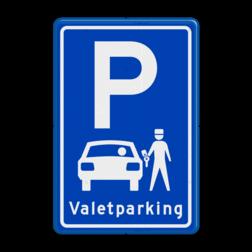 Parkeerbord type E08 Valetparking - parkeerservice Parkeren, Parkeerservice, Service
