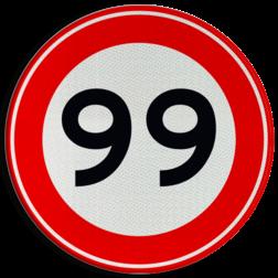 Product Maximumsnelheid Verkeersteken A01-00 vrij invoerbaar - klasse 3 50 kilometer per uur, 50 jaar, jubileum, bord in tuinjarig, feestbord, speciale gelegenheid, A1