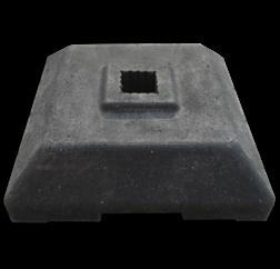 Baakvoet 400x400x100mm - 12 kg verzwaringsvoet, verzwaring, tijdelijke plaatsing, baakvoet, klein