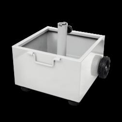 Verrijdbare bordenstandaard CUBE 450x450x260mm - wit RAL9016 standaard, voet, verrijdbaar, cube, kubus, evenement, beurs, tijdelijk