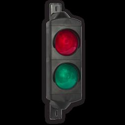 Product ** Exclusief timer en/of besturing van verkeerslicht. ** Inwendig bedraad tot aan klemmenstrook. Attentielicht LED 2xØ100mm 230V stoplicht, stoppen, Verkeerslichten, FUTURLED, attentielicht, led, 2x100