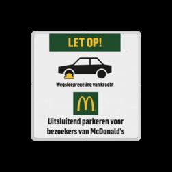 Parkeerbord Mc Donalds - wielklemregeling