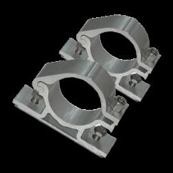 Rohrschellen (2er Set) Ø48 mm Rohrschellen, 48mm Durchmesser, montage gegen rohrpfosten