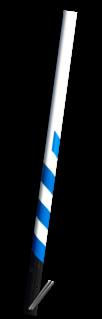 ANWB Buispaal 2700 mm boven maaiveld - Rondom wit gecoat + zwarte onderzijde en blauwe serpent