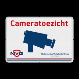 Verkeersbord cameratoezicht in huisstijl - BP03a cameraregistratie, camera, bewaking, eigen terrein, beveiliging, videoregistratie, BP03, Preventie, politie, marchausee, koning, thesaurier