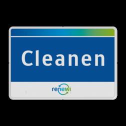 Veiligheid- informatiebord rechthoek in huisstijl Renewi
