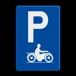 Verkeersbord E9i: Parkeren uitsluitend voor motorfietsen Verkeersbord België E9i - Parkeren uitsluitend voor motorfietsen E9i parkeerborden, motors, motot
