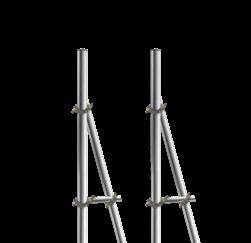 Opstelunit A02 buispaal 3200mm boven maaiveld - compleet paal, bevestigen, vastmaken, buispaal, palen, verkeersbordpaal, bordpaal
