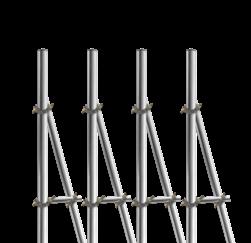 Opstelunit A04 buispaal 3700mm boven maaiveld - compleet paal, bevestigen, vastmaken, buispaal, palen, verkeersbordpaal, bordpaal