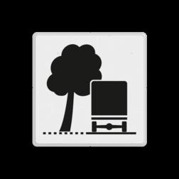 Verkeersbord Overhangende takken Verkeersbord RVV OB17l - Overhangende takken OB17