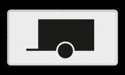 Verkeersbord Onderbord - Geldt alleen voor voertuigen met aanhanger Verkeersbord RVV OB10 - Onderbord - Geldt alleen voor voertuigen met aanhanger OB10
